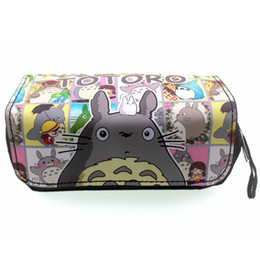 Cute girl penCil Case online shopping - Japanese Cute Cartoon Totoro Pencil Bag Lovely Cat Style Stationery Pen Pencil Organizer Purse Girls Lady Woman PU Cosmetic Case