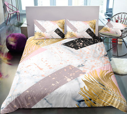 3d Bedding Set White Rose Australia - Thumbedding Dropship Yellow Plant Bedding Sets Marble Pattern Fashionable Design Twin Full Queen King 3D Duvet Cover Set Colorful Bed Set