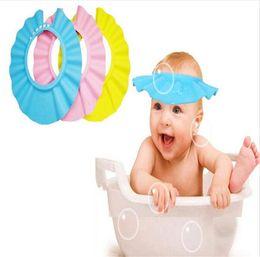 Hair wasHing sHield online shopping - Bathroom Adjustable Baby Hat Toddler Kids Shampoo Bath Bathing Shower Cap Wash Hair Shield Direct Visor Caps For Children Baby
