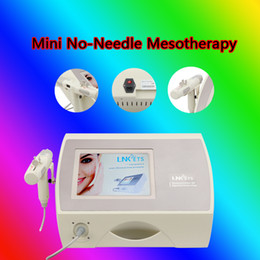 mesotherapy microcurrent machine Canada - High Quality No Needle Mesotherapy Facial Machine For Skin Rejuvenation Wrinkle Removal With Diamond Dermabrasion RF Microcurrent Cooling