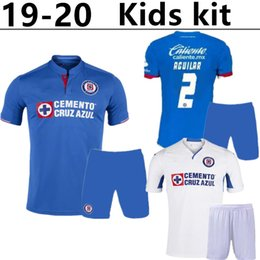 Children S Boys Shirts Australia - New Arrived kids kit 2019 2020 Mexico Club Cruz Azul Liga MX child Soccer Jerseys 19 20 Home Blue Away White boys Football Shirts camisetas