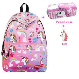 $enCountryForm.capitalKeyWord Australia - Unicorn Backpack Women Bag Fashion School Bags For Teenage Girls Sac A Main Bagpack Travel Bags Bolsa Feminina Mochila Infantil