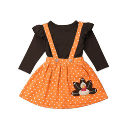 Discount baby turkeys - New Cute Kids Baby Girl Thanksgiving Clothes Tops+ Strap Turkey Dot Skirt Outfit Set