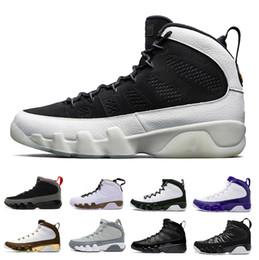 Black White Men Shoes Cheap Australia - Cheap Bred LA 9 Basketball Shoes Men 9s White Black Mop Melo Anthracite 2010 RELEASE Tour Yellow PE Cool Grey sports Sneakers 41-47