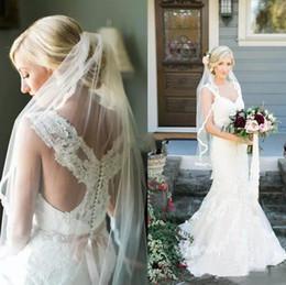 $enCountryForm.capitalKeyWord Australia - Charming 2019 Lace Applique Scoop Mermaid Wedding Dresses With Beads Sash Long Bridal Gowns Plus Size Custom Made China