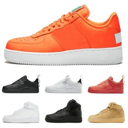 Chinese  2019 Utility Black white Running Shoes Flax Red Just Orange dunk Designer Men Women Shoes High Low Cut Trainers Sports Sneaker manufacturers
