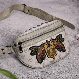 Marca de fábrica directa de los hombres bolsa de alta calidad Oxford tela hombres bolso del pecho bordado abejas pequeñas moda hombro bolsa de Mensajero viaje al aire libre le