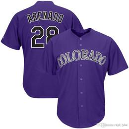 $enCountryForm.capitalKeyWord UK - Mens 28 Nolan Arenado Baseball Jerseys 2019 NEW Colorado Purple White Rockies Cool Base Jersey cheap sale