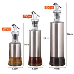 steel oil pot NZ - Kitchen Supplies Stainless Steel Oil Bottle Soy Sauce Bottle Vinegar Wine Bottles Cruet Pot Kitchen Oil Bottle Diapenser Bottles
