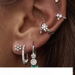 gold leaves Australia - 2019 New arrived leaf lower ear cuff gold silver paved clear cz No piercing women wholesale cute leaves cuff earring