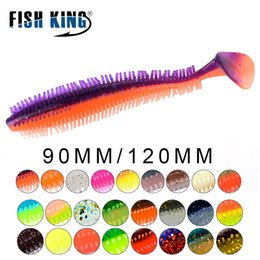 Discount sports fishing lures Sports & Entertainment FISH KING Fishing Soft Lure Baits 90mm 4g 120mm 9g T-Tail Single Tails Shad Carp Silicone Fishing