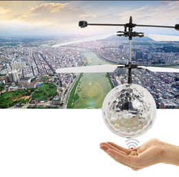 $enCountryForm.capitalKeyWord Australia - RC Drone Flying Ball Aircraft Helicopter, Led Flashing Light Up Toys Induction Electric Toy Drone For Kids Children Christmas gifts