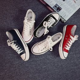 $enCountryForm.capitalKeyWord Australia - Fashion Canvas Shoes Korea Ulzzang Women Street Skate Sneakers Unisex Rugged Casual Board Shoes Solid Color Men Summer Plimsolls