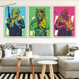 $enCountryForm.capitalKeyWord UK - Hotline Miami Poster Hot Game Posters and Prints Canvas Painting Wall Art Picture for Living Room Decoration Home Decor