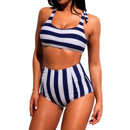 ea54203838af6 Conservative bikini bathing suits online shopping - Hot Spring Bathing Suit  Female New Striped Conservative High