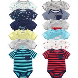$enCountryForm.capitalKeyWord NZ - Super Cotton Baby Bodysuit Fashion 6pcs lot Newborn Body Baby Suits Short Sleeve Overalls Infant Boy Girl Jumpsuit Kids Clothes Y19061201