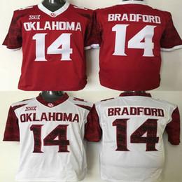 Football Free Australia - Men college Oklahoma Sooners jerseys white Red #14 Sam Bradford adult size football jersey stitched free shipping