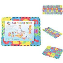 Wholesale DIY Cute Kids Soft Foam Play Floor Mat Alphabet Numbers Puzzle