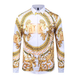 $enCountryForm.capitalKeyWord NZ - Best selling 2019 fashion men's floral print petticoat cosmetics brand luxury casual Harajuku shirt 3D long-sleeved printed Medusa men's shi