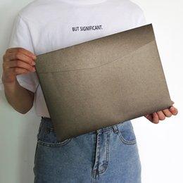$enCountryForm.capitalKeyWord Australia - 20pcs set 23*32cm Pearl Envelope A4 Size Vintage Paper Envelope for Birthday Christmas Wedding Large Exceed Thickness File Bag