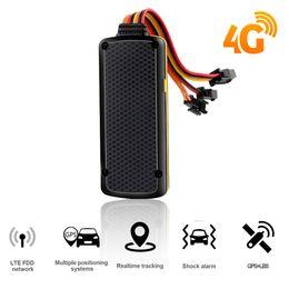 Gps tracker rastreador online shopping - 4G LTE FDD GPS Tracker Car Tracker Global Used Rastreador Cut Oil Anti theft Localizador GPS Vibration SOS Emergency Alarm
