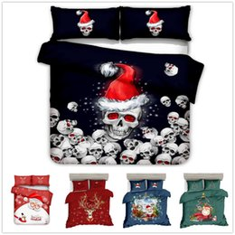 $enCountryForm.capitalKeyWord NZ - yazi 2pcs 3pcs Christmas Santa Bedding Sets Duvet Cover Pillowcase Set Single Double Queen King Size Home Bedroom Decoration