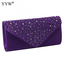 $enCountryForm.capitalKeyWord UK - Satin Tiny Glass Beads Clutches For Women Fashion Evening Bags Purple Chain Shoulder Bags Party Wedding Vintage Pearl Softback Y190626