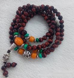 Buddha head tigers eye online shopping - The natural red Tiger Eye Bracelet hand on beeswax multi Buddha head