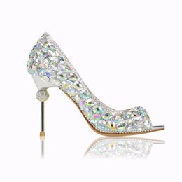 521e49b5d9 Angel2019 Luxurious Fund Temperament Glass Rhinestone Color Drilled Fish  Mouth Fine With Exquisite Wedding Banquet Shoe Sandals