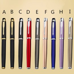 $enCountryForm.capitalKeyWord Australia - Metal PARKER IM roller ball pen 0.5MM Business Executive rollerball Pens as Luxury gift Office Writing stationery