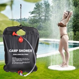 $enCountryForm.capitalKeyWord NZ - 20L Camping Hiking Solar Heated Camp Shower Bag Outdoor Shower Water Bag for Car Traveling Camping Hiking Backpacking Cycling