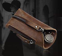 $enCountryForm.capitalKeyWord Australia - Leather car key pack fashionable new small key pack cowhide key chain