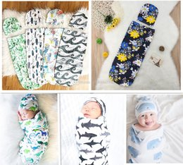 $enCountryForm.capitalKeyWord NZ - New Infant Baby Swaddle Baby Boys Girls Muslin Blanket & Headband Newborn Baby Soft Cotton Cocoon Sleep Sack Two Piece Set Sleeping Bags