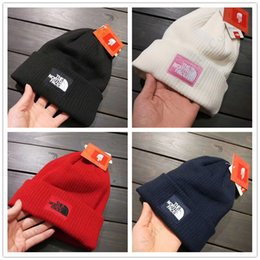 Knit hat fleece lining online shopping - Adults Beanies Knit Hats The North Design Fleece Lining Skull Caps Face Men Women Winter Thick Warm Gorro Bonnet Ski Cap Crochet Hat C110503