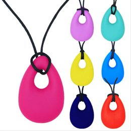 Discount sensory baby toys - Baby Boy Girls Pacifier Kids Chew Silicone Necklace Anti Autism ADHD Biting Sensory Chew Teething Toys Teething Necklace