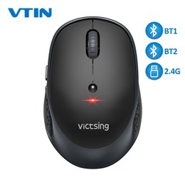 Usb tablets online shopping - VicTsing PC254 Wireless Mouse DPI Adjustable Portable Bluetooth Mouse Ghz USB Optical Cordless Mice For PC Tablet Laptop