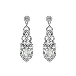 $enCountryForm.capitalKeyWord UK - Fashion Long Bridal Dangle Earrings for Women Wedding Baroque Water Drop Crystal Clear Earrings JCC079
