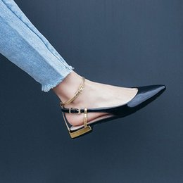 chinese sandals Australia - Hot Sale-sandals pointed toe pointy ladies beautiful flats shoes ankle strap patent leather dress china women breathable summer chinese