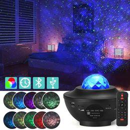 Опт Светодиодный гаджет Красочный проектор Starry Sky Light Galaxy Bluetooth USB голосовой контроль музыкальный проигрыватель ночной романтический проекционный лампа