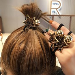 $enCountryForm.capitalKeyWord Australia - Star Pattern Hair Rubber Bands Fashion Diamond Shinning Women Hair Ropes Girls Cute Charm Brand Hair Jewellry