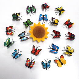$enCountryForm.capitalKeyWord Australia - 70pcs 3D Simulation Butterflies Wall Stickers Mix Sizes Kids Room Art Decal Decoration For Door Window Refrigerator Sale