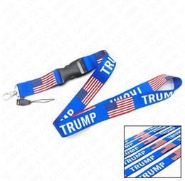 Wholesale Creative Letters Neck Lanyards US America Flage Niden Trump Printed Sling for Cell Phone ID Card Keychains Strap Ropes 1lot 10piece D61603