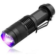Uv Flashlight Torch Australia - 2016 new mini uv led flashlight torch 365nm blacklight 395nm lamp light cree torcia uv charge Use 14500 rechargeable battery