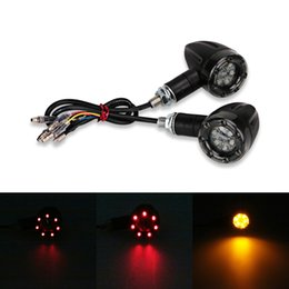 led light for scooter UK - Universal Indicators Flasher Lamp Signal Light LED For Light Brake Harley Rear Scooter Running Motorcycle Motorbike Chopper Turn Xoupu