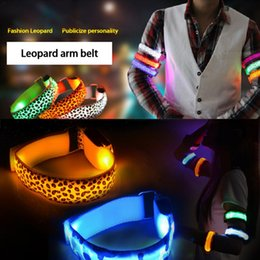 usb rings 2019 - Led Reflective Sports Running Arm With USB Charging Luminous Hand Chain Pull Ring Props For Night Running Skating Warnin