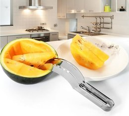 cantaloupe slicer UK - New watermelon cut slicer Melon cutter knife fruit segmentation Watermelon Corer Cantaloupe Cutting Seeder Slicer Scoop