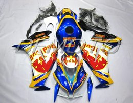 Fit bull online shopping - New Injection Mold ABS motorcycle Fairings Kits Tank cover Fit For HONDA CBR1000RR bodywork set blue BULL