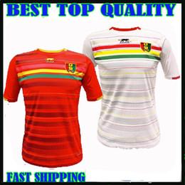 93c09cf54 Guinea 2015 Africa Cup home soccer jerseys 15 16 10 Kamano 7 Camara 2  Falette 3 Sylla 11 Idrissa Sylla football shirts top thailand quality