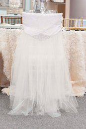 Vintage Styling Chairs Australia - Custom Made Crystals Sequined Lace Wedding Chair Covers Beautiful Cheap Wedding Party Decorations Vintage Chair Sashes Supplies C05
