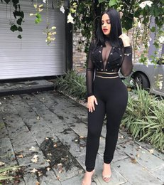 Wholesale half jumpsuit for sale – dress Women One Piece Set V Neck Outfits Jumpsuits Half Sleeve Print Bodycon Pencil Full Length Long Pants Rompers Night Club Suit